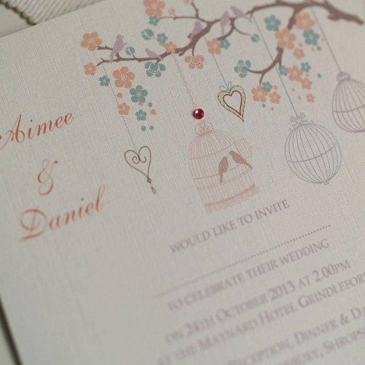 birdcage wedding invitation template%0A Convites de Casamento no Campo  Jardim e Parque  modelos  Pastel Wedding  InvitationsWedding