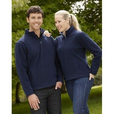 Womens Binding Trim Half Zip Jacket Min 25 - A 100% poly lightweight 200gsm fabric with a binding trim. http://www.promosxchange.com.au/womens-binding-trim-half-jacket/p-9284.html
