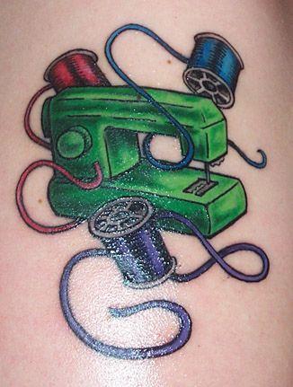 Eek! This machine is backward!: Tattoo Ideas, Crafty Tattoo, Crafts Tattoo, Green Machine, Crafty Ink, Sewing Tattoo, Cute Tattoo, Green Sewing, Sewing Machine Tattoo