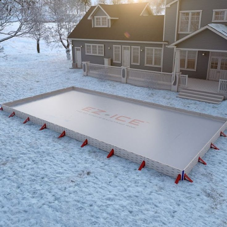 EZ ICE Backyard Ice Rink Kit Backyard ice rink, Backyard
