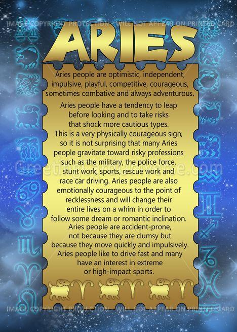 Aries Zodiac Birthday some are true. Definitely not optimistic or risky