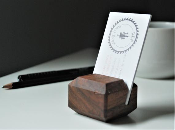 Walnut Vertical Business Card Holder Wooden Card Holder Office Desk Organiz Square Business Card Holder Vertical Business Card Holder Business Card Holders