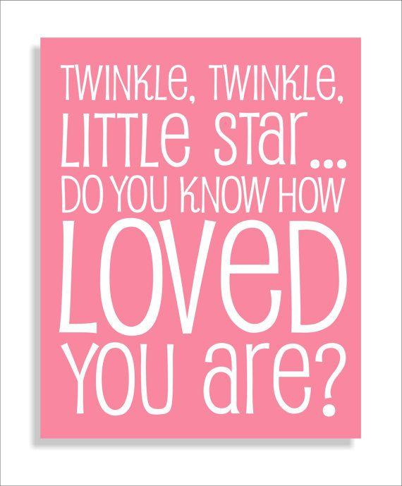 Twinkle Twinkle Little Star Quote Modern Art by FieldandFlower, $12.00