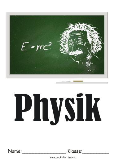 Deckblatt Physik 1