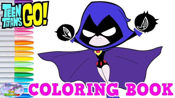 Teen Titans Go Coloring Book Raven Episode Show Surprise -6556