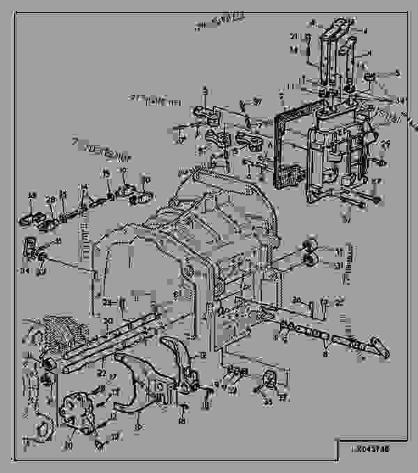Parts scheme Shifting Parts, Range Transmission, PowrQuad™ - TRACTOR John Deere 6400 - TRACTOR - 6300, 6400 Tractors (European Edition) DRIVESYSTEMS Shifting Parts, Range Transmission, PowrQuad™ | 777parts
