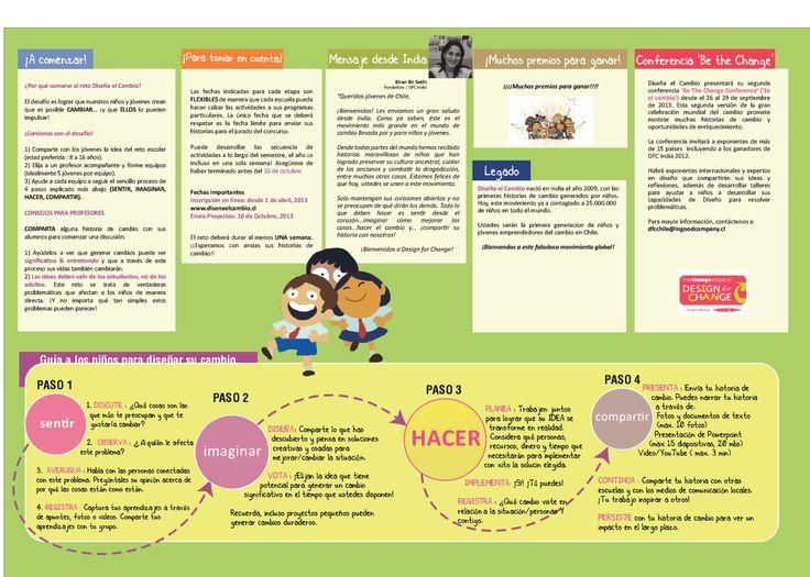 #Guía a los niños para diseñar su cambio.#yodiseñoelcambio