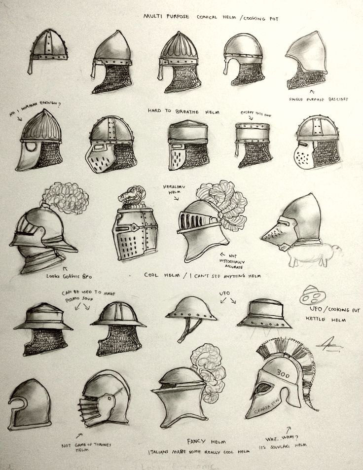 Project WARRGH - Medieval European Helmet part 1 by Gambargin helm armor equipment gear magic item | Create your own roleplaying game material w/ RPG Bard: www.rpgbard.com | Writing inspiration for Dungeons and Dragons DND D&D Pathfinder PFRPG Warhammer 40k Star Wars Shadowrun Call of Cthulhu Lord of the Rings LoTR + d20 fantasy science fiction scifi horror design | Not Trusty Sword art: click artwork for source