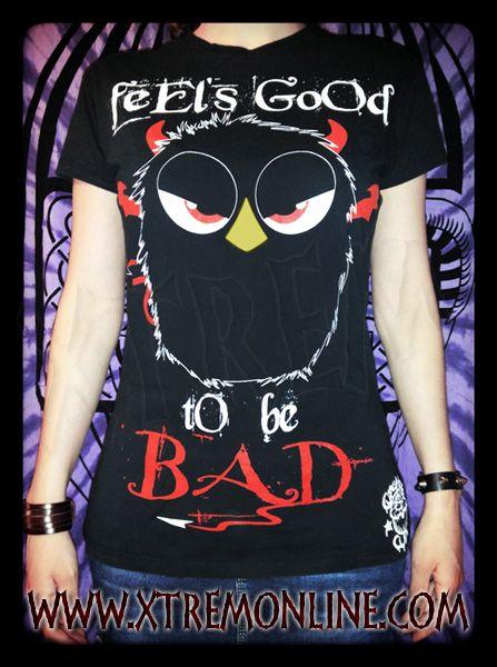 Camiseta Feel's Good to be Bad. Toda la información aquí: http://goo.gl/W6f0cF XTREM - Tu Tienda de Confianza en Internet www.xtremonline.com