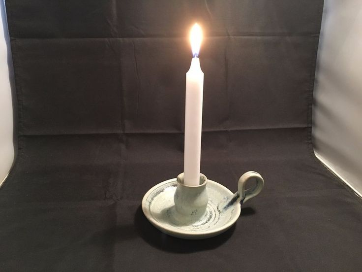 """Candle Holder – """"Vintage Look""""  Ceramic Aqua Marine Color with Handle in Home & Garden, Home Décor, Candle Holders & Accessories 