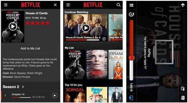 نتفلكس تعمل على إعادة تصميم واجهة تطبيقها Netflix App Netflix House Of Cards Seasons
