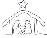 Christmas party game (Pin the star on the manger)