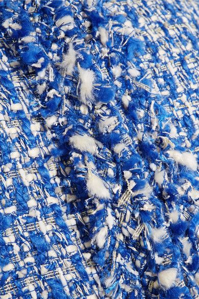 Alice Olivia - Nila Tweed Jacket - Blue