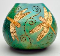 """In this full-length Instant Access class, you'll discover everything you need to know to create this beautiful """"Tree Lamp"""" from a gourd!"""