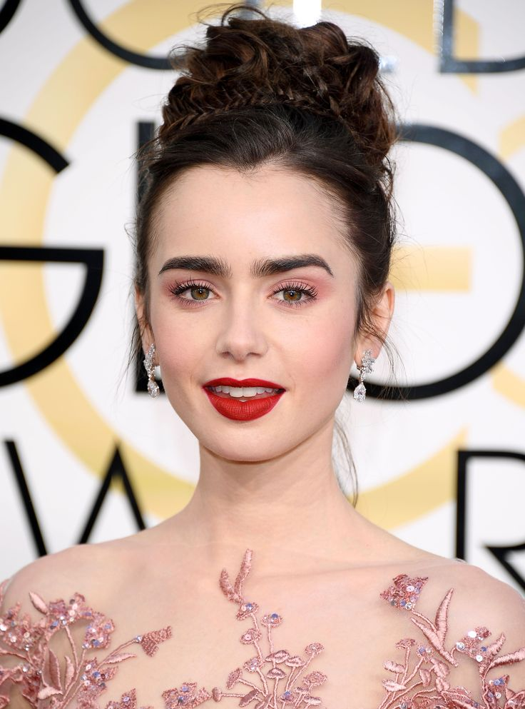 Shop the Exact Lipsticks from the 2017 Golden Globes Red Carpet - Lily Collins from InStyle.com