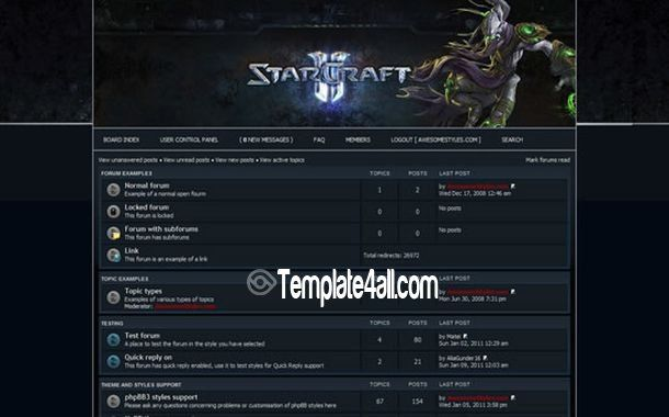 Phpbb Styles - Starcraft Phpbb3 Theme Download #starcraft #phpbb #phpbb3 #phpbbstyles