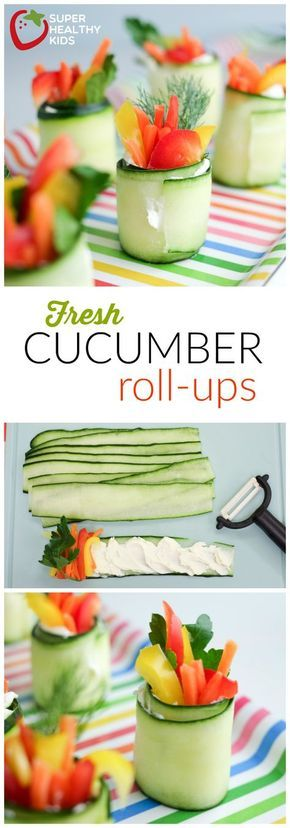 Fresh Cucumber Roll-ups!   Super Healthy Kids   Food and Drink   Kids Party Food