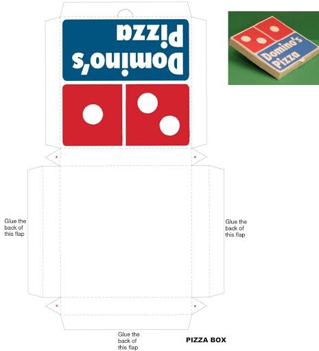 Pizza Box - (There are tons of different templates on this site!)