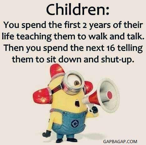 Funny Minion Joke About Kids