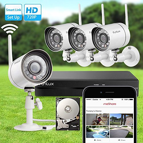 Special Offers - Funlux NEW Smart Wireless Surveillance Camera System 500GB Hard Drive  Smart Link Set-Up in Minutes - In stock & Free Shipping. You can save more money! Check It (August 26 2016 at 11:14PM) >> http://motionsensorusa.net/funlux-new-smart-wireless-surveillance-camera-system-500gb-hard-drive-smart-link-set-up-in-minutes/