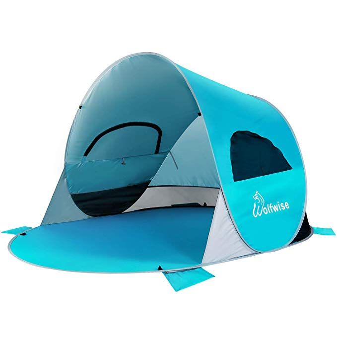 timeless design 350bb fd78f WolfWise UPF 50 Easy Pop Up 3-4 Person Beach Tent Instant ...