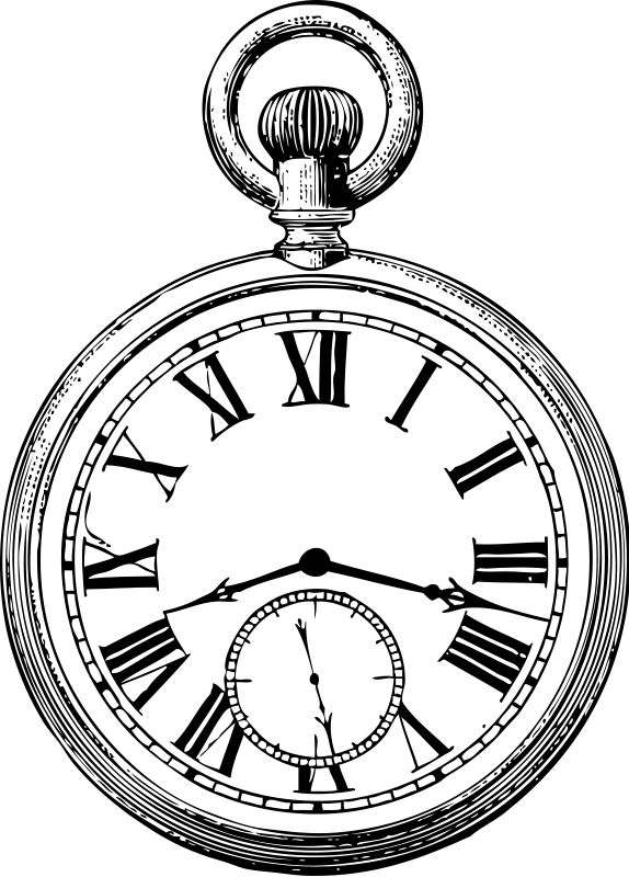 Pocket Watch Drawing Clipart Best | Pocket watch drawing ...