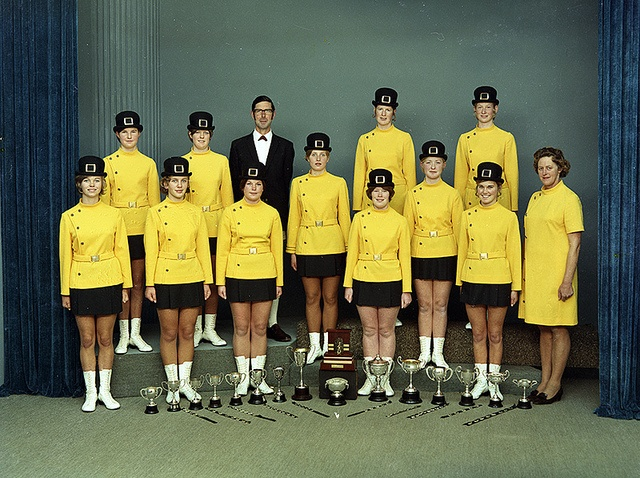 Golden Conquerers Marching Team, Group (21 June 1971) by Puke Ariki, via Flickr