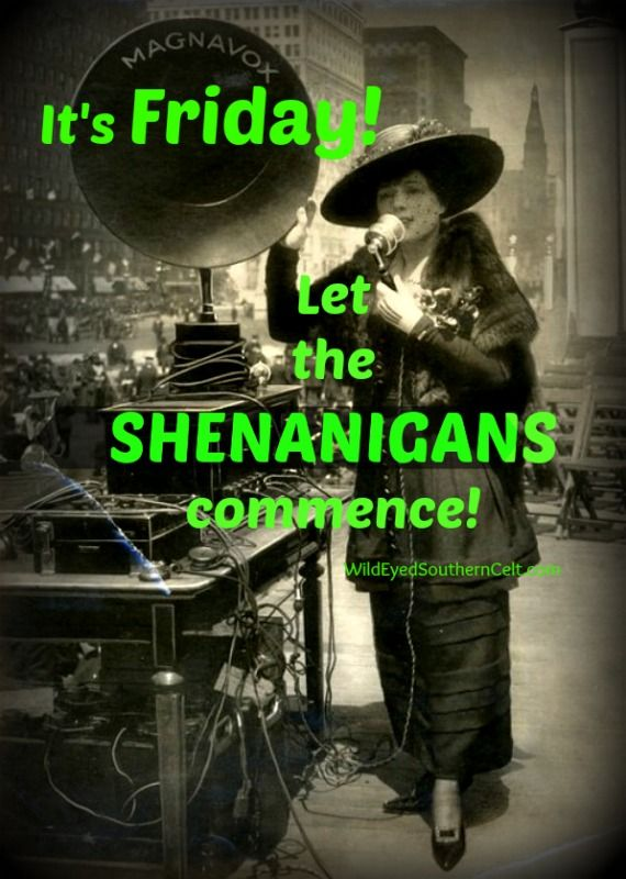 It's Friday--let the shenanigans commence!    via WILDEYEDSOUTHERNCELT.COM