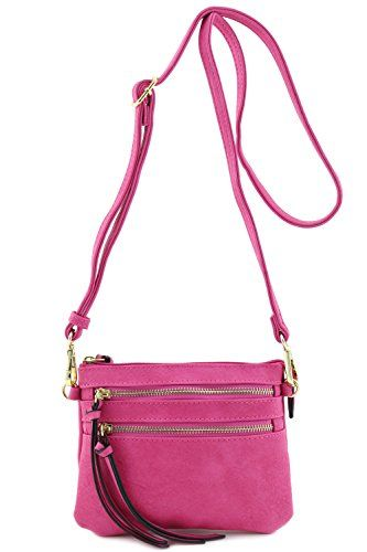 New Trending Make Up Bags: Multi Pocket Small Crossbody Bag (Fuchsia). Multi Pocket Small Crossbody Bag (Fuchsia)  Special Offer: $15.50  122 Reviews This multi pocket small crossbody bag makes easy to organize your everyday items.8″ (W) x 5.75″ (H) x 0.5″ (D)Zipper closureAdjustable shoulder strap with 24″ drop  7.5″...