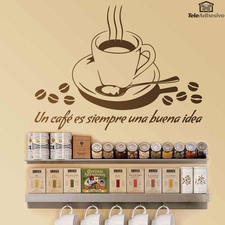 53 best images about vinilos para la cocina on pinterest premium coffee best coffee shop and - Teleadhesivo vinilos decorativos espana ...