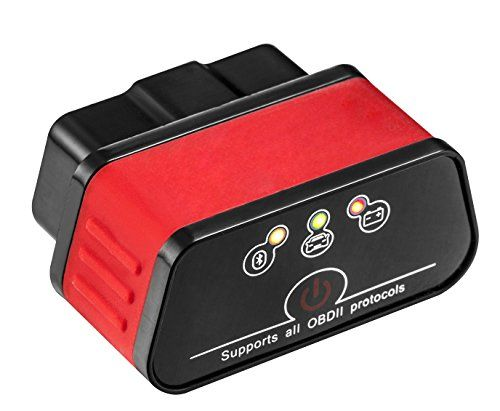 PWOW® BLACK&RED Mini Wireless Bluetooth OBD2 OBDII, Intelligent Automobile Fault Diagnosis Apparatus, KW903 On-Board Diagnostic, Fuel Consumption Scan Tool, Auto Diagnostic Tool for Android & Windows - https://www.caraccessoriesonlinemarket.com/pwow-blackred-mini-wireless-bluetooth-obd2-obdii-intelligent-automobile-fault-diagnosis-apparatus-kw903-on-board-diagnostic-fuel-consumption-scan-tool-auto-diagnostic-tool-for-android/  #Android, #Apparatus, #AUTO, #Automobi