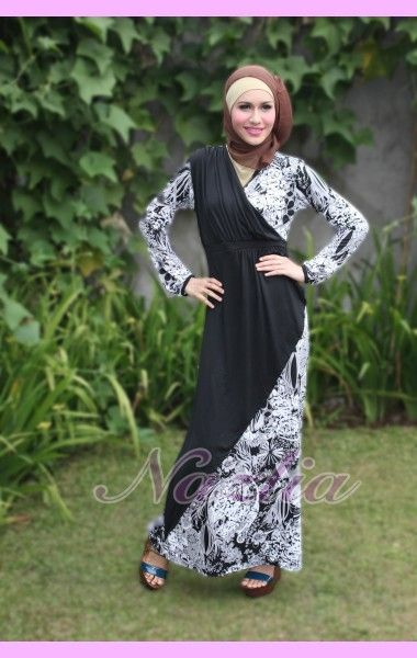 Black & White - Butik Baju Muslim Online ~ Nazlia.Com