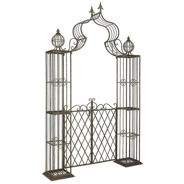 Safavieh Beatrix Archway Patio Arbor, Blue ($667) ❤ liked on Polyvore featuring home, outdoors, outdoor decor, blue, outdoor metal decor, safavieh, outdoor patio decor, metal garden decor and garden patio decor