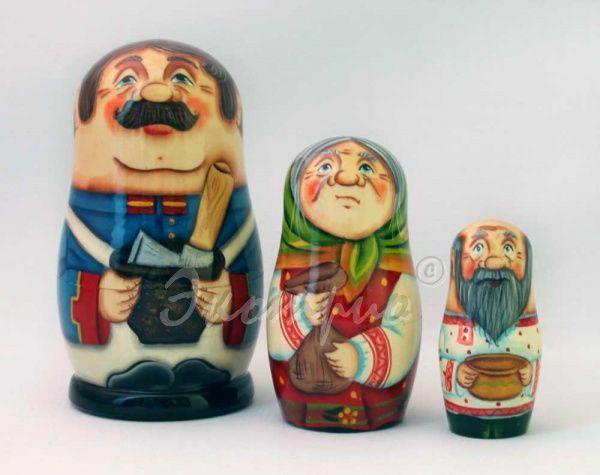 Матрешка Каша из топора (Переславль) - в подарок на праздник Матрешки по сказкам