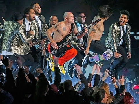BRUNO MARS Red Hot Chili Peppers 2014 SUPER BOWL XLVIII Performance