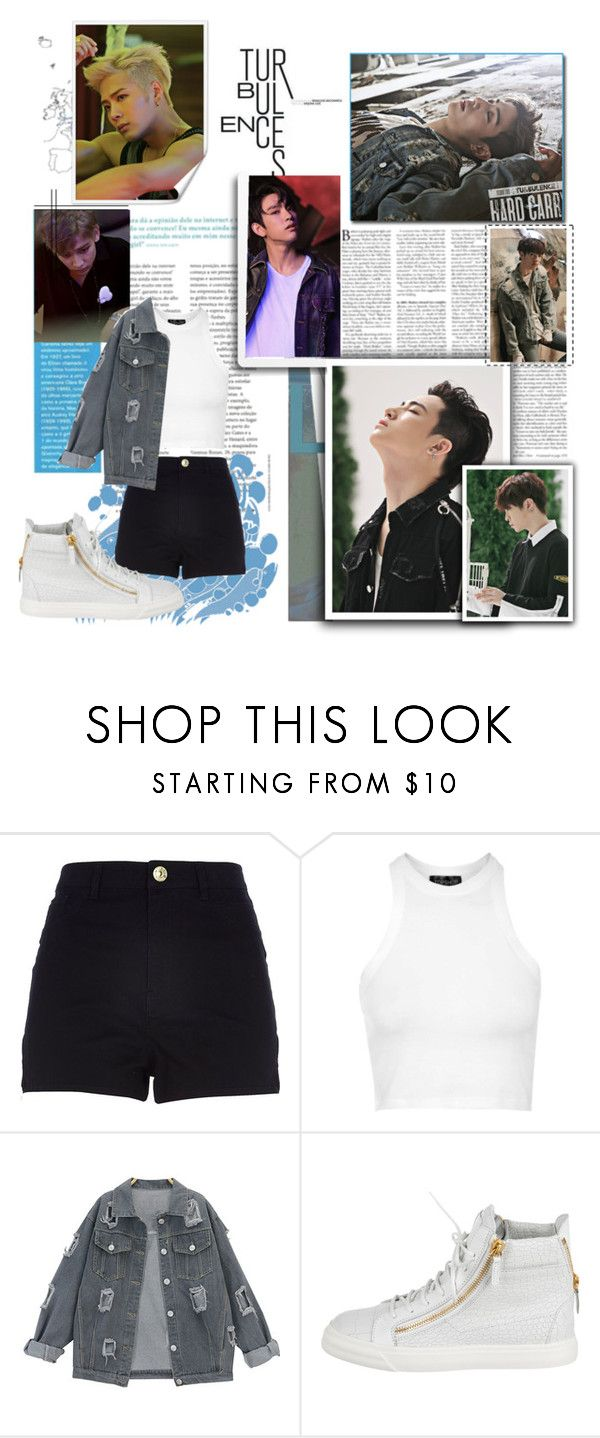 """""""Got7 Hard Carry"""" by ninaxo17 on Polyvore featuring River Island, Topshop and Giuseppe Zanotti"""