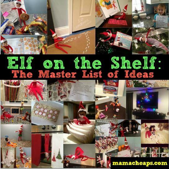 elf on the shelf ideas master list - 5+ years worth of one family's Elf on the Shelf pics! #elfontheshelf #elfontheshelfMC