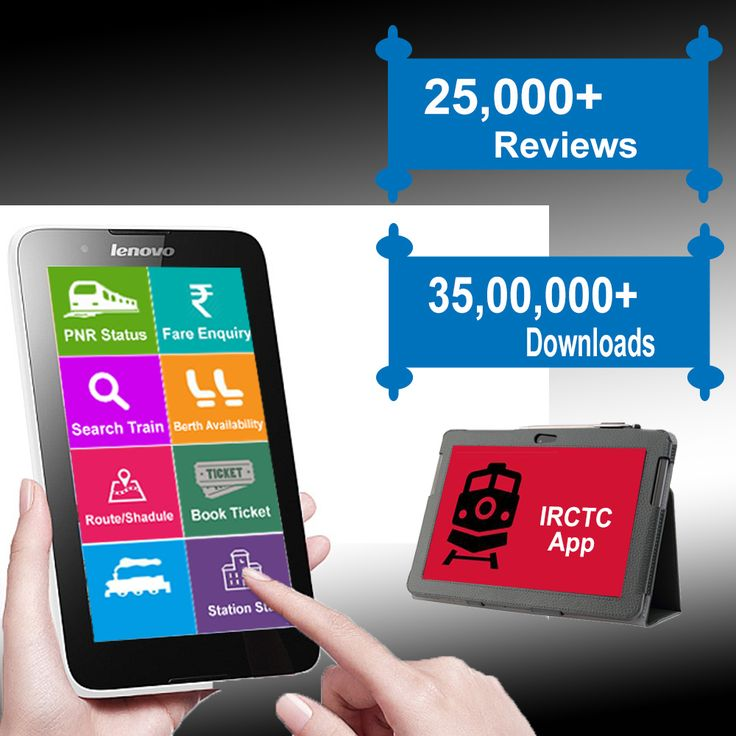 Online Indian Railways Reservation Android App.