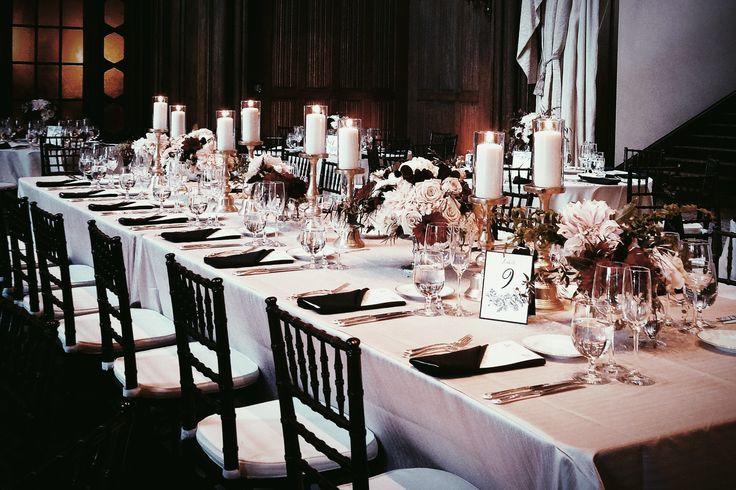 Blush Black Vintage Wedding Ballroom Cream Flowers Gold