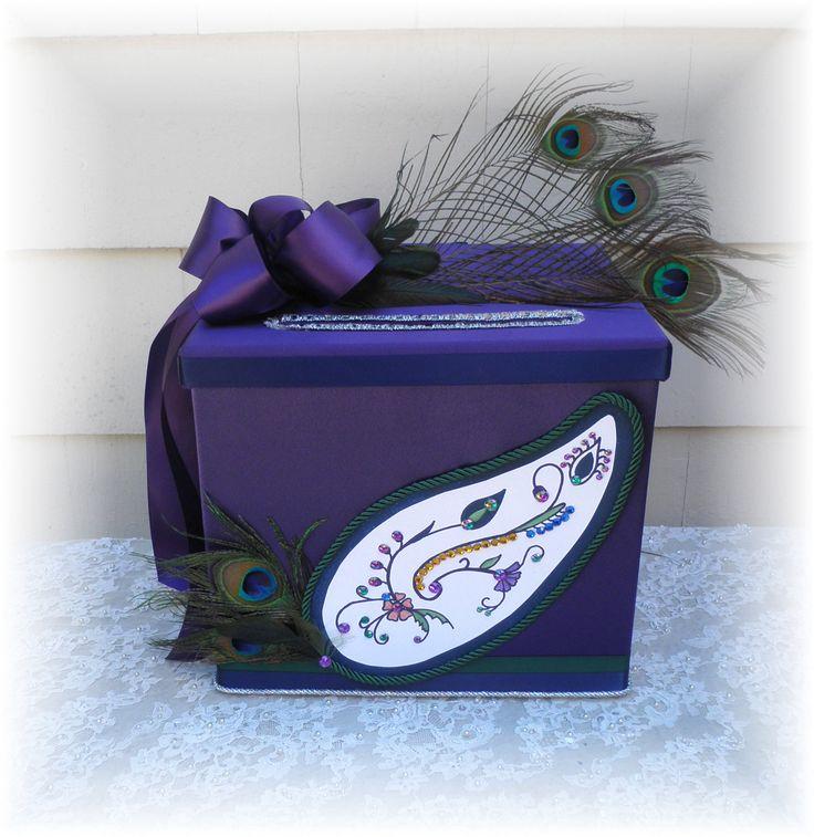 peacock wedding cardbox get inspired at