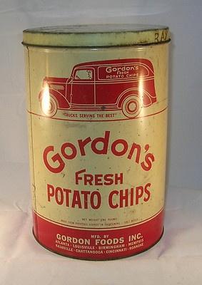Gordon's Fresh Potato Chips Tin Canister Gordon Foods | eBay