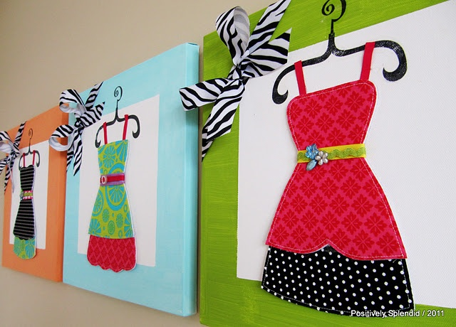 dress up wall art (with free stencils)