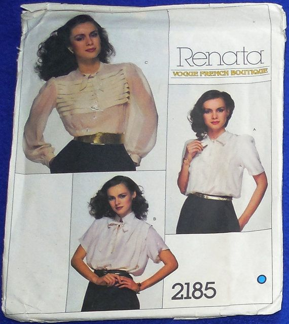 Vogue 2185 French Boutique Pattern 2185-Size by ShellyisVintage