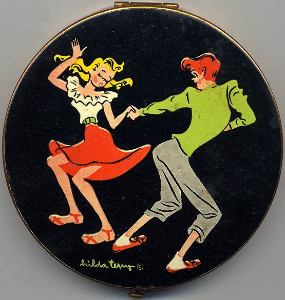 Vintage compact boy, I sure don't remember having compacts during that era but I sure would have loved to.