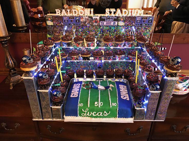 NY Giants football cake stadium