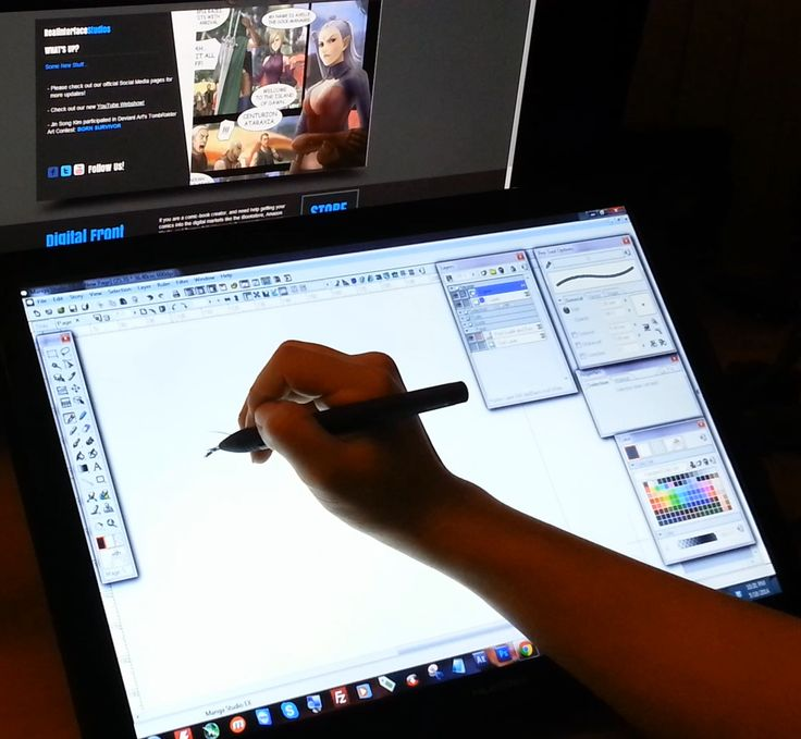Many artists can't afford a WACOM CINTIQ Pen Display Monitor. The HUION GT-190 Pen Tablet Monitor is a great cheaper alternative model.