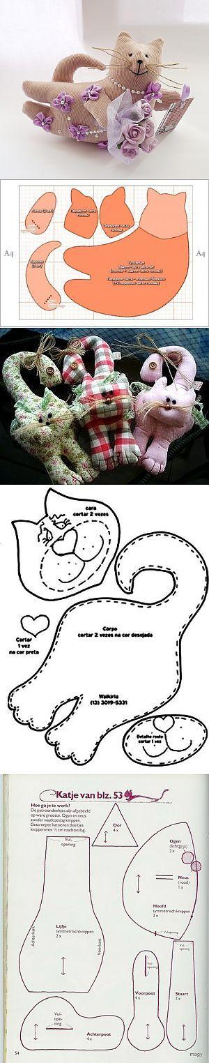 Мягкая подушка кот — выкройки | My Milady | ШИТЬЁ - подушки,игрушки,куклы,кошельки,сумочки,разное | Постила