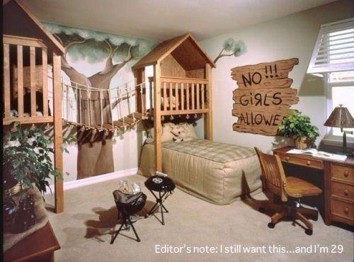 Tree house themed room
