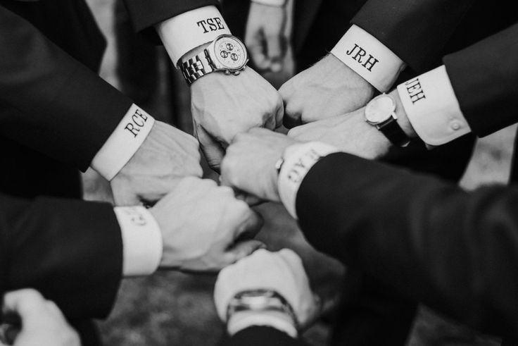 Groomsmen fashion, monogrammed shirts, watches, pin this to your own inspiration board! // Aster + Olive Photography