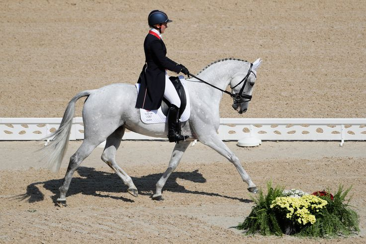 DAY 1 - EQUESTRIAN: Individual Eventing Dressage - Gemma Tattersall of Great Britain riding Quicklook V